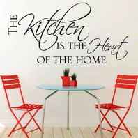Kitchen Wall Sticker The Kitchen is the Heart of the Home decals